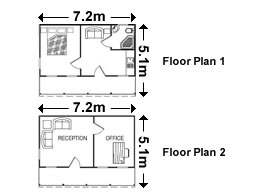 Classic Overnighter (2040 Original Cabin) Floorplan - Click To Enlarge