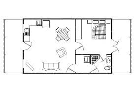 The Byron (3H60 Loft Barn) Floorplan - Click To Enlarge