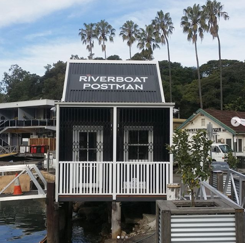The Riverboat Postman's ticket office is a custom-order Cedarspan Loft Cottage!