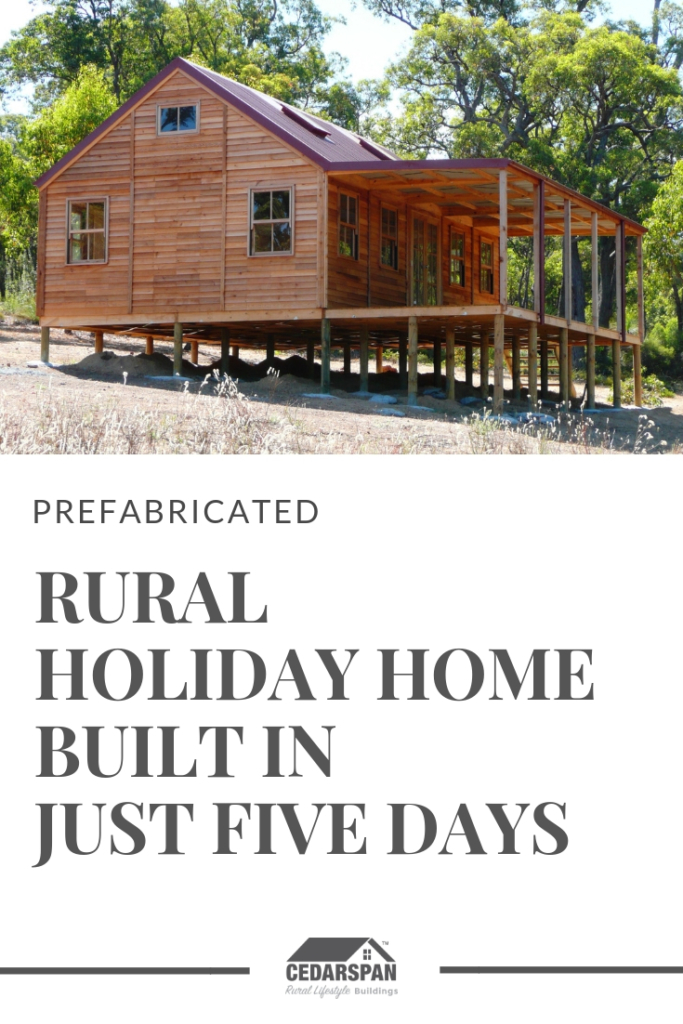 Cedarspan Cabin Kit Holiday Home assembled in 5 days